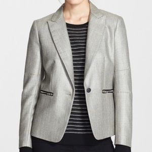 RAG & BONE Alpine Wool Blend Zip Pockets Blazer